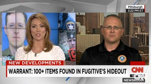 Erik being interviewed by Brooke Baldwin from CNN